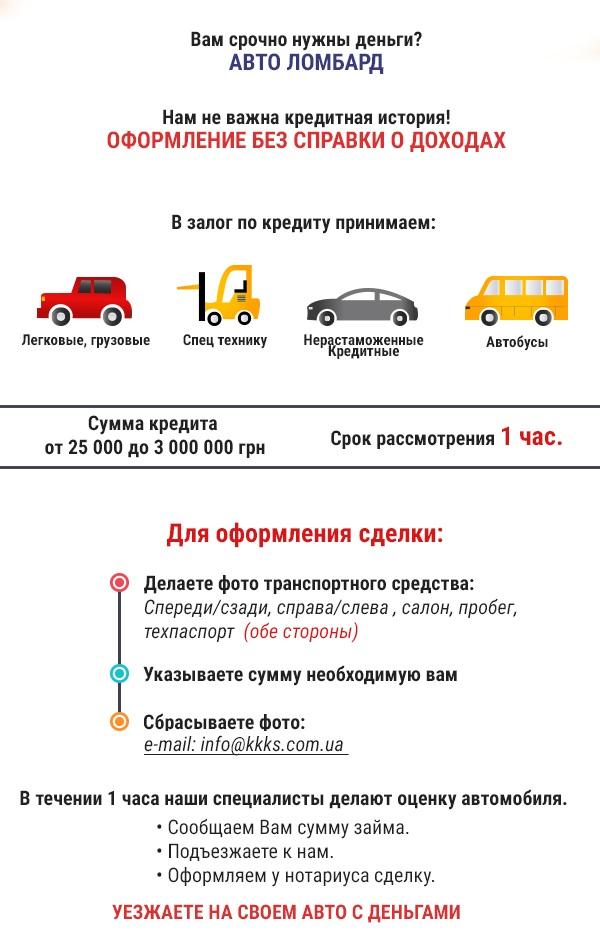Кредит под залог автомобиля харьков взять денег в долг у частного лица под залог